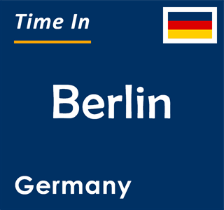 Current time in Berlin, Germany