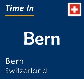 Current time in Bern, Bern, Switzerland