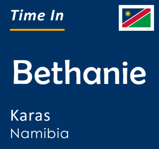 Current time in Bethanie, Karas, Namibia