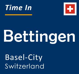 Current time in Bettingen, Basel-City, Switzerland