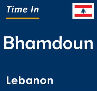 Current time in Bhamdoun, Lebanon