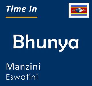 Current time in Bhunya, Manzini, Eswatini