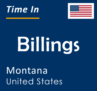 Current time in Billings, Montana, United States