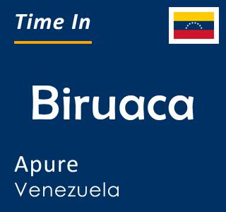 Current time in Biruaca, Apure, Venezuela