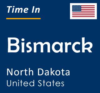 Current time in Bismarck, North Dakota, United States