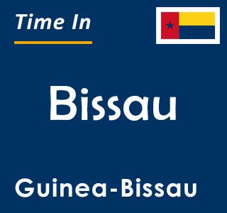 Current time in Bissau, Guinea-Bissau