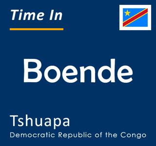 Current time in Boende, Tshuapa, Democratic Republic of the Congo