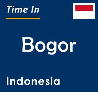 Current time in Bogor, Indonesia