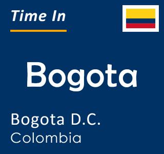 Current time in Bogota, Bogota D.C., Colombia