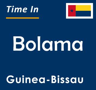 Current time in Bolama, Guinea-Bissau