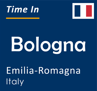 Current time in Bologna, Emilia-Romagna, Italy