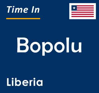 Current time in Bopolu, Liberia