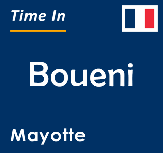 Current time in Boueni, Mayotte