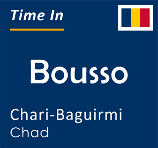 Current time in Bousso, Chari-Baguirmi, Chad