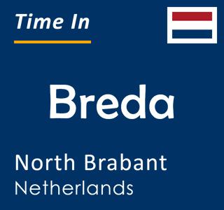 Current time in Breda, North Brabant, Netherlands