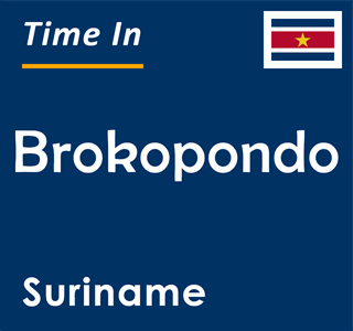 Current time in Brokopondo, Suriname