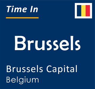 Current time in Brussels, Brussels Capital, Belgium