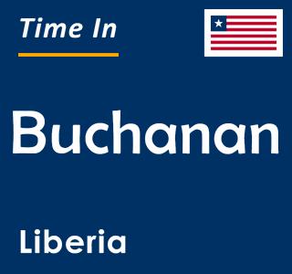 Current time in Buchanan, Liberia