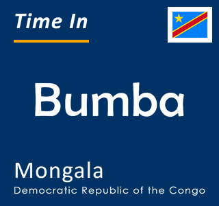 Current time in Bumba, Mongala, Democratic Republic of the Congo