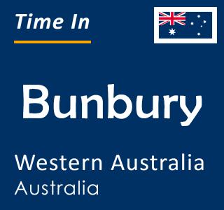 Current time in Bunbury, Western Australia, Australia