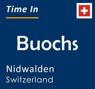 Current time in Buochs, Nidwalden, Switzerland