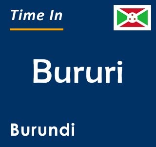 Current time in Bururi, Burundi