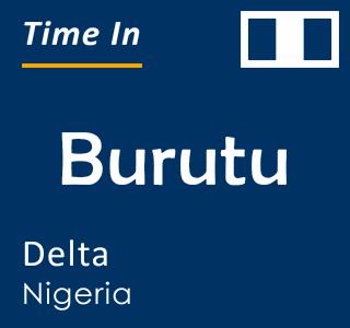 Current time in Burutu, Delta, Nigeria