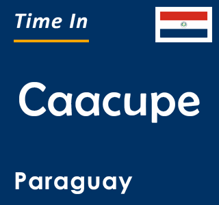 Current time in Caacupe, Paraguay
