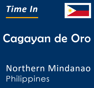 Current time in Cagayan de Oro, Northern Mindanao, Philippines