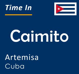 Current time in Caimito, Artemisa, Cuba