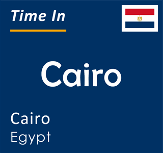 Current time in Cairo, Cairo, Egypt