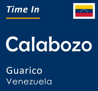 Current time in Calabozo, Guarico, Venezuela
