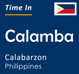 Current time in Calamba, Calabarzon, Philippines