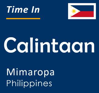 Current time in Calintaan, Mimaropa, Philippines