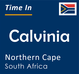 Current time in Calvinia, Northern Cape, South Africa