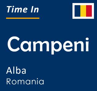 Current time in Campeni, Alba, Romania