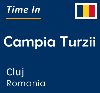 Current time in Campia Turzii, Cluj, Romania