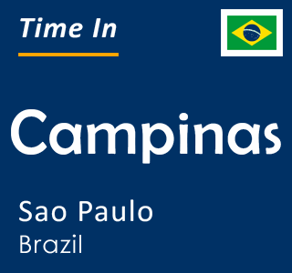 Current time in Campinas, Sao Paulo, Brazil