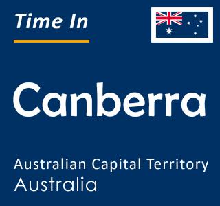 Current time in Canberra, Australian Capital Territory, Australia