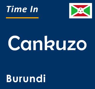 Current time in Cankuzo, Burundi