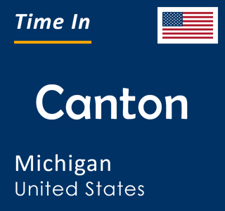Current time in Canton, Michigan, United States