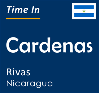 Current time in Cardenas, Rivas, Nicaragua