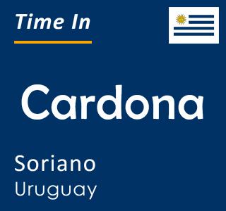 Current time in Cardona, Soriano, Uruguay