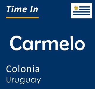 Current time in Carmelo, Colonia, Uruguay