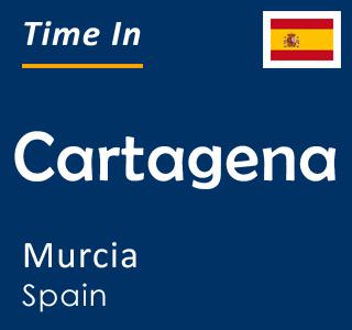 Current time in Cartagena, Murcia, Spain