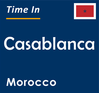 Current time in Casablanca, Morocco