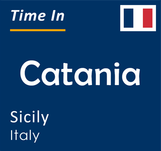 Current time in Catania, Sicily, Italy