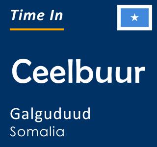 Current time in Ceelbuur, Galguduud, Somalia