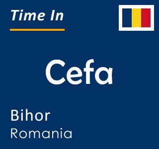 Current time in Cefa, Bihor, Romania