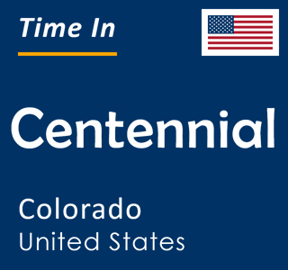 Current time in Centennial, Colorado, United States